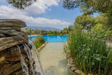 Schickes rustikales Landhaus mit riesigem Pool