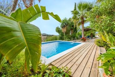 Villa near the beach with lush vegetation