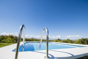 Ferienhaus auf dem Land mit Blick in die Natur
