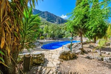 Casa muy bien decorada con jardín tropical